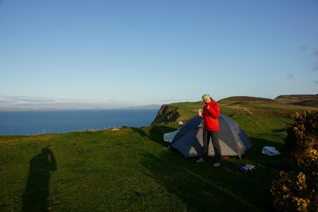 wild Campen nach Etappe 2 am Skye Trail
