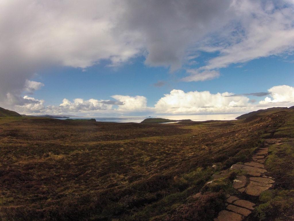 Start auf Etappe 1 am Skye Trail