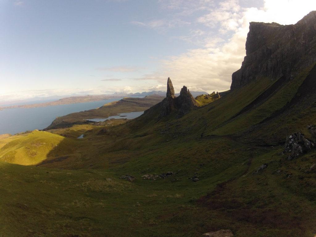 Old Man of Storr auf Etappe 2 am Skye Trail