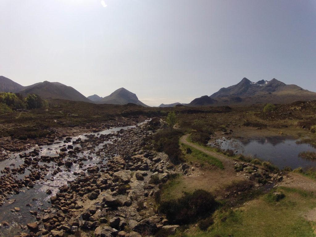 kurz vor Sligachan auf Etappe 4 am Skye Trail