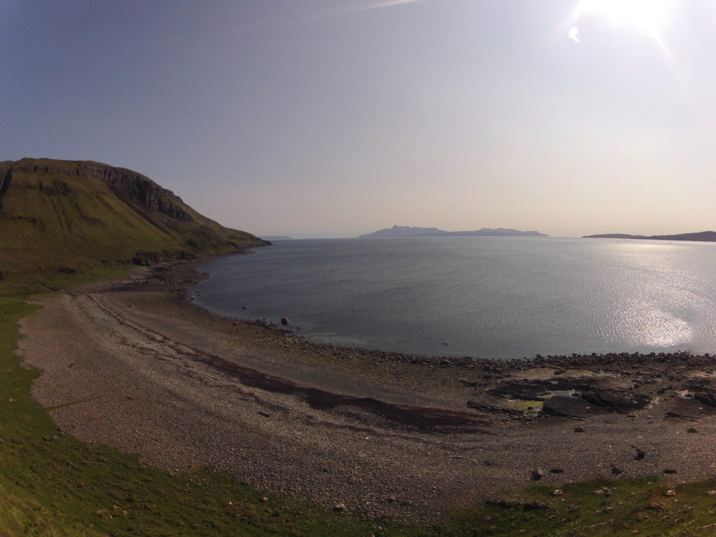 Bucht auf Etappe 5 am Skye Trail