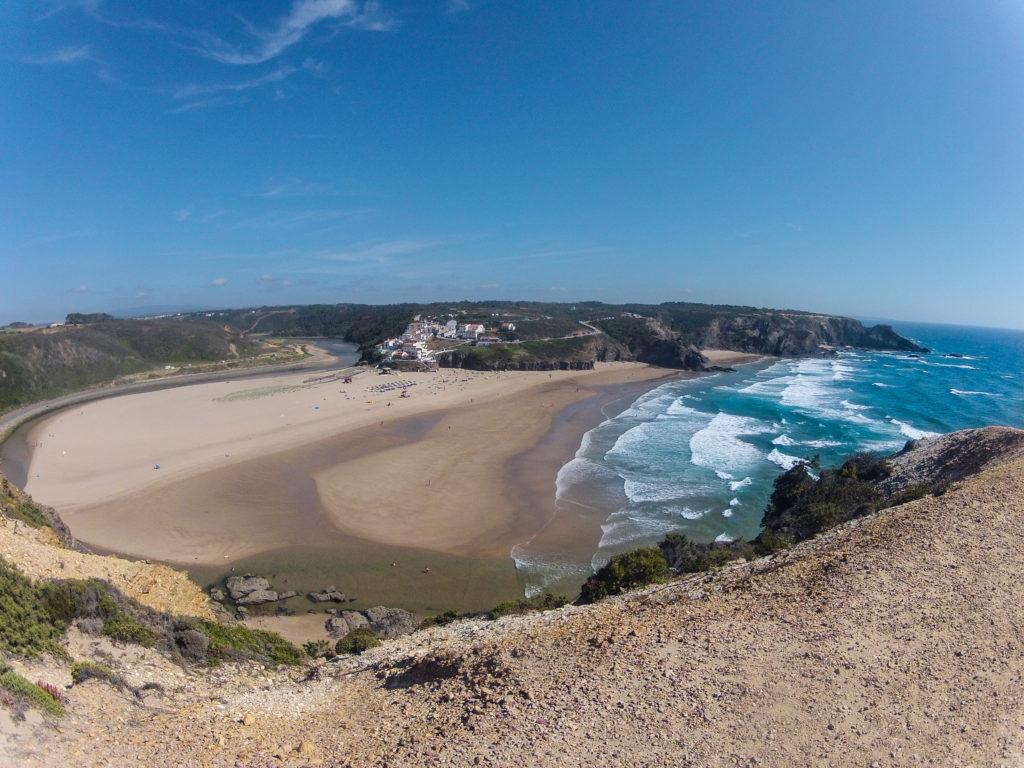 Praia de Odeceixe beim Wandern am Fischerpfad der Rota Vicentina