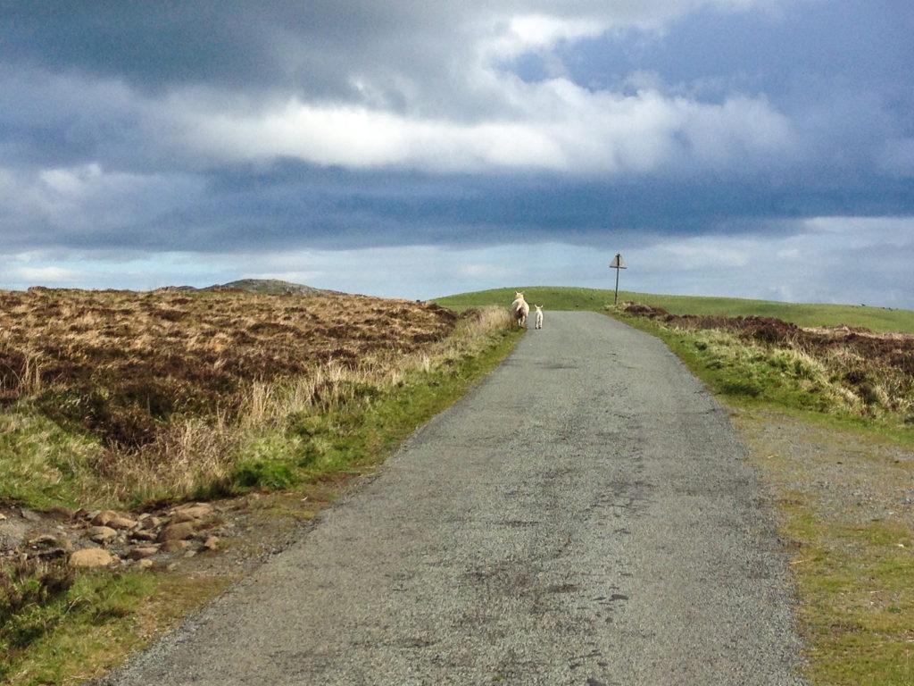 Start Etappe 1 beim Wandern am Sky Trail in Schottland