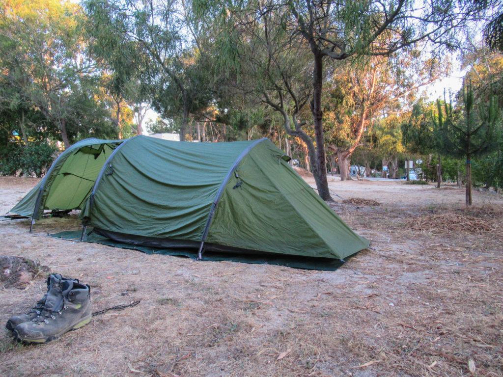 Unser Zelt am Campingplatz in Zambujeira do Mar