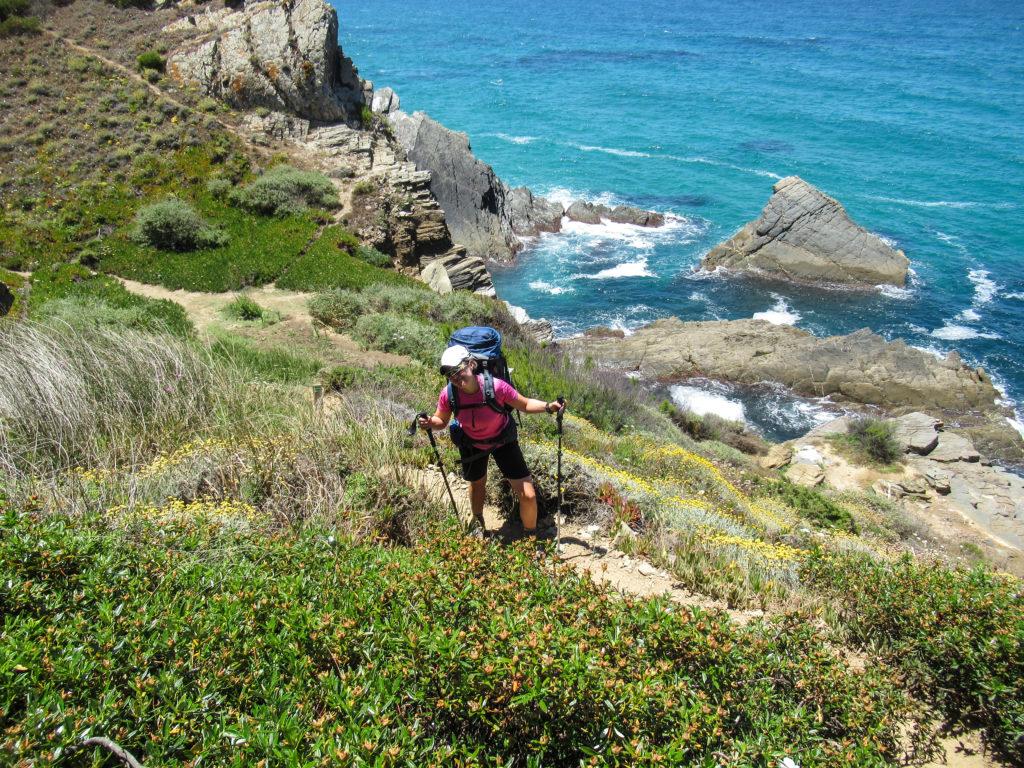 Rita auf Etappe 3 am Fischerpfad